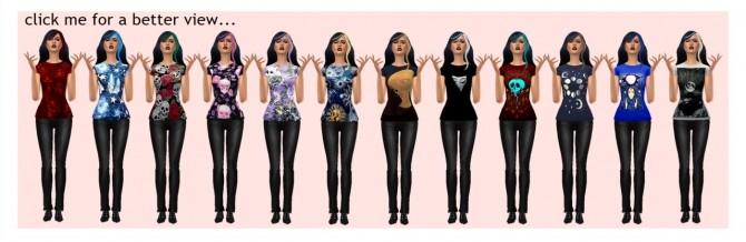 Sims 4 BG MAGIC TEE PRINTS at Sims4Sue