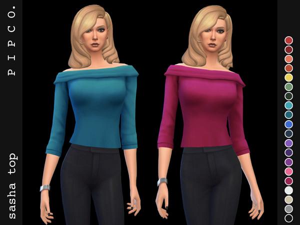 Sims 4 Sasha top by Pipco at TSR