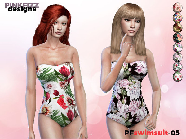 Tropical Swimsuit PF04 by Pinkfizzzzz at TSR image 243 Sims 4 Updates