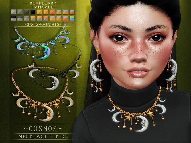 Cosmos necklace & earrings for kids at Blahberry Pancake image 2501 670x503 Sims 4 Updates