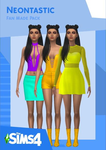 Sims 4 Neontastic set at Heartfall