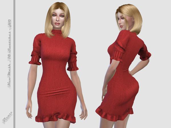 Sims 4 Autumns Kiss dress by pizazz at TSR