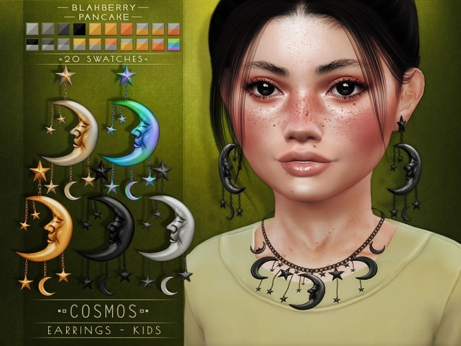 Cosmos necklace & earrings for kids at Blahberry Pancake image 2518 670x503 Sims 4 Updates