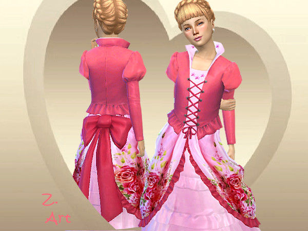 Sims 4 Costume Princess II by Zuckerschnute20 at TSR