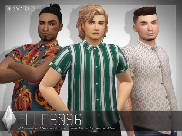 Warhol Button Up Shirt male version by Elleb096 at TSR image 2527 Sims 4 Updates