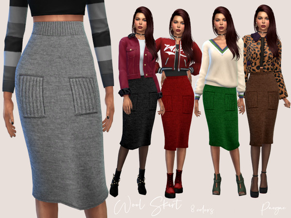Sims 4 Wool Skirt by Paogae at TSR