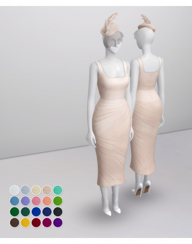Lady of Dress in 20 colors at Rusty Nail image 2541 670x851 Sims 4 Updates
