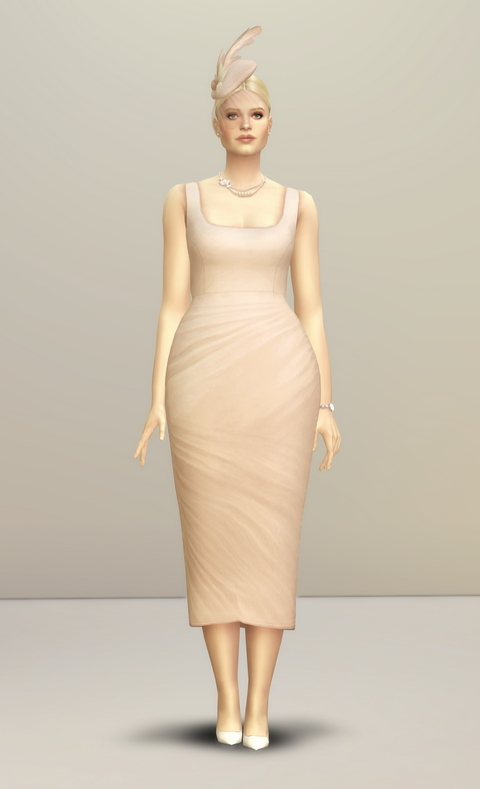 Lady of Dress in 20 colors at Rusty Nail image 2571 Sims 4 Updates