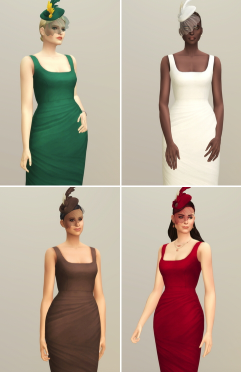 Lady of Dress in 20 colors at Rusty Nail image 2581 Sims 4 Updates