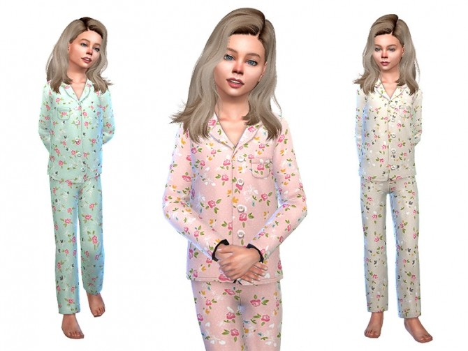 Sims 4 Pajama for Girls 05 by Little Things at TSR