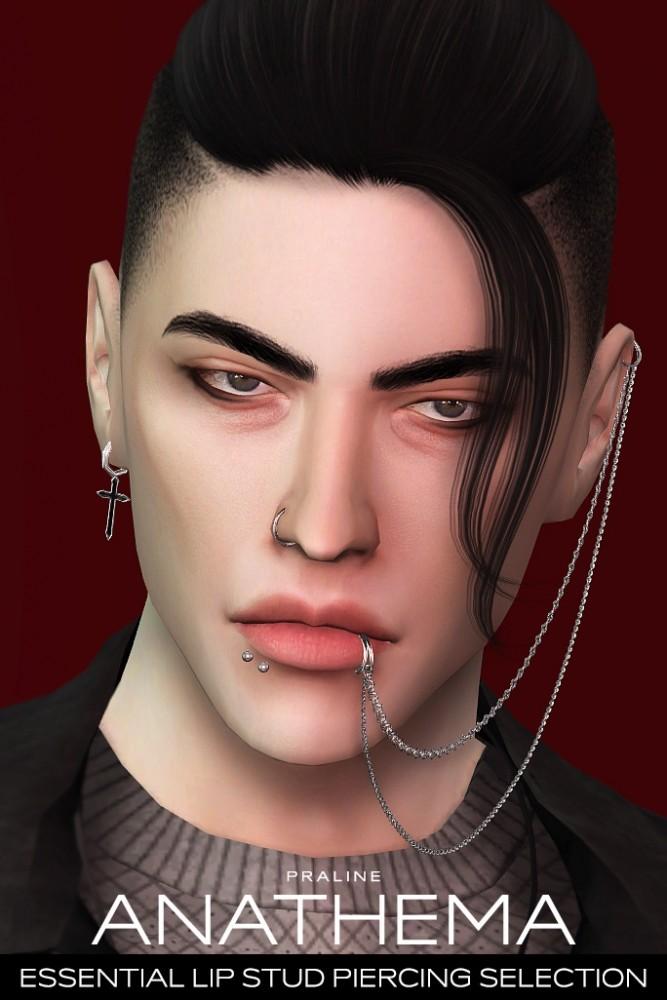 ANATHEMA Lip Stud Piercing Selection at Praline Sims image 2711 667x1000 Sims 4 Updates