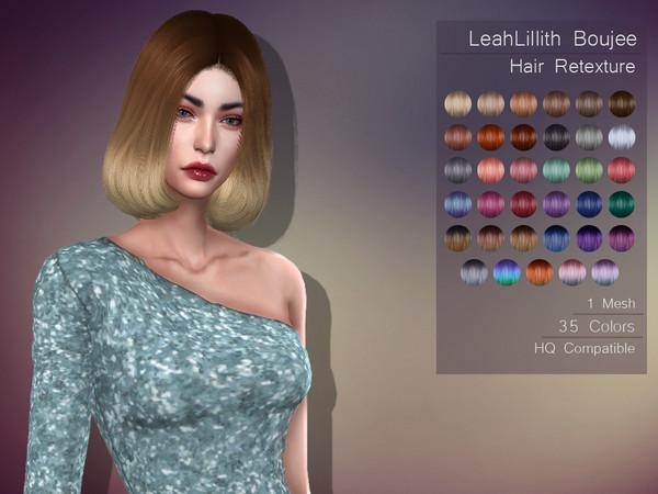 Sims 4 LMCS LeahLillith Boujee Hair Retexture by Lisaminicatsims at TSR