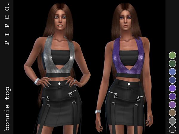 Sims 4 Bonnie top by Pipco at TSR