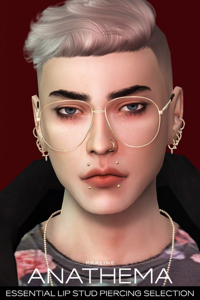 ANATHEMA Lip Stud Piercing Selection at Praline Sims image 274 667x1000 Sims 4 Updates