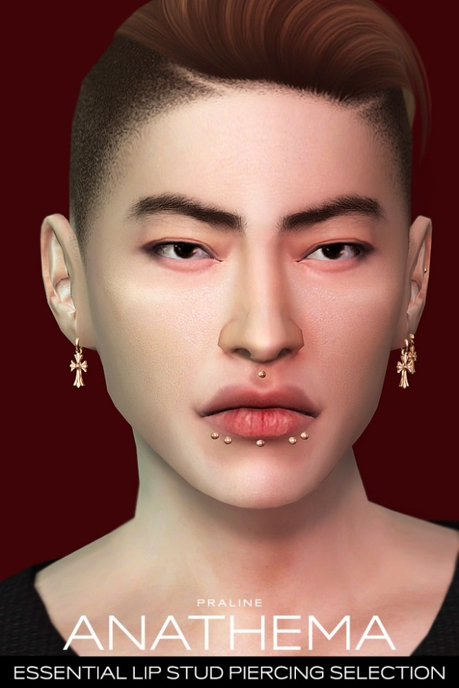 ANATHEMA Lip Stud Piercing Selection at Praline Sims image 275 667x1000 Sims 4 Updates