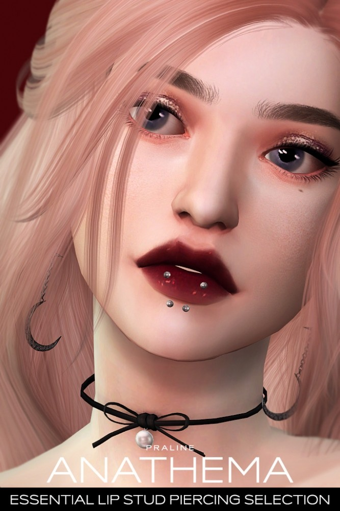 ANATHEMA Lip Stud Piercing Selection at Praline Sims image 276 667x1000 Sims 4 Updates