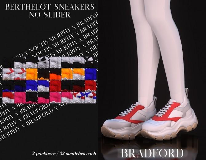 Sims 4 Berthelot Sneakers No Slider Version by Silence Bradford at MURPHY