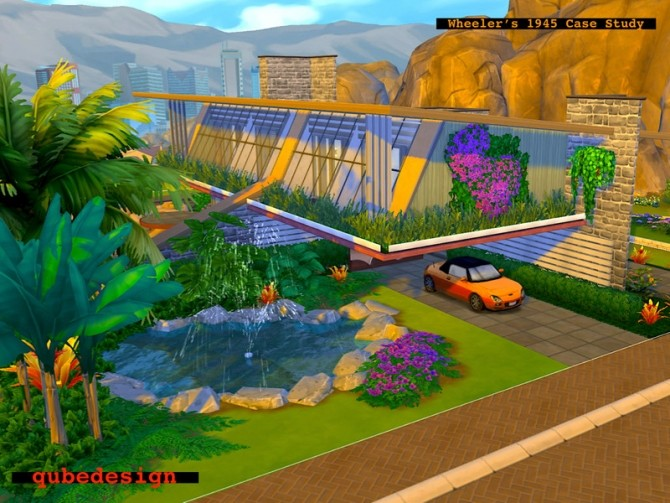 Sims 4 Wheelers 1945 Case Study House by QubeDesign at TSR