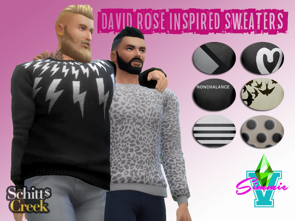 David Rose Sweaters by SimmieV at TSR image 292 Sims 4 Updates