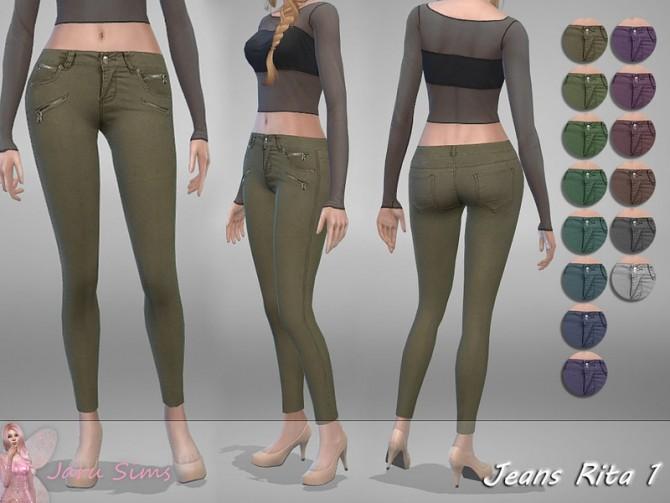 Sims 4 Jeans Rita 1 by Jaru Sims at TSR