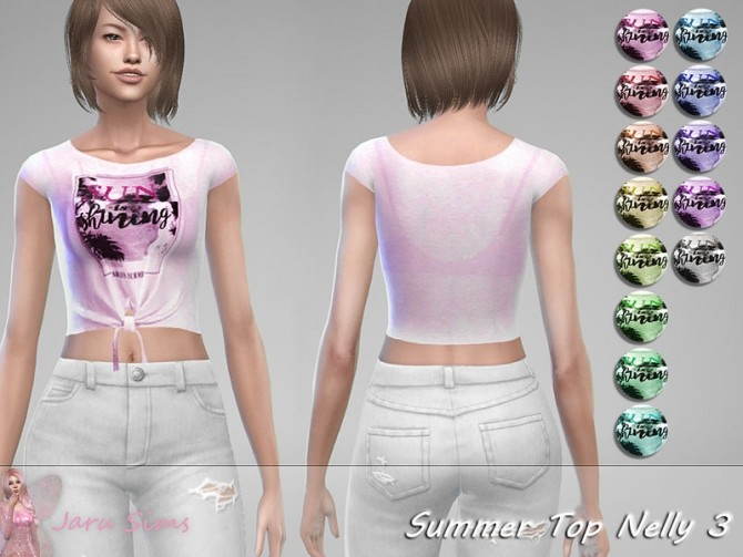 Sims 4 Summer Top Nelly 3 by Jaru Sims at TSR