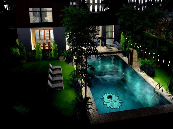 Sims 4 Jungle modern suburban house by GenkaiHaretsu at TSR