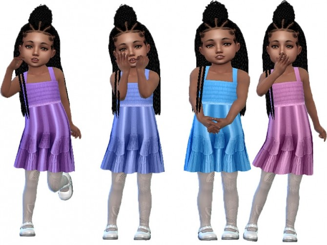Sims 4 Silk toddler dress by TrudieOpp at TSR