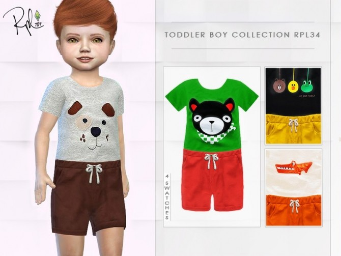 Toddler Boy Collection RPL34 by RobertaPLobo at TSR image 3128 670x503 Sims 4 Updates