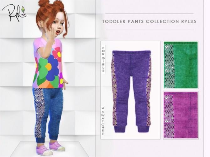 Sims 4 Toddler Pants Collection RPL35 by RobertaPLobo at TSR