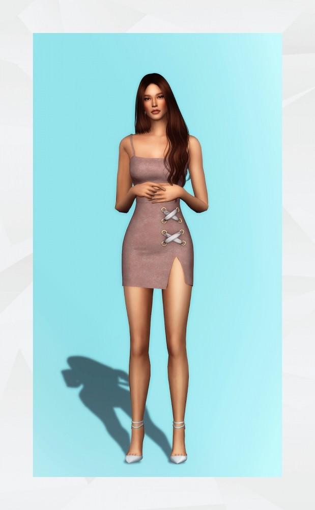 Eyelet Dress at Gorilla image 3131 619x1000 Sims 4 Updates