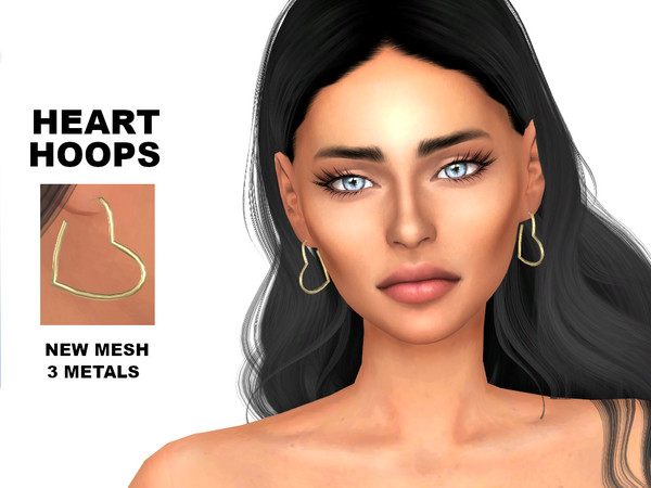 Sims 4 Heart Hoops by Tigerlilly at TSR
