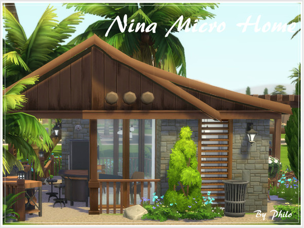 Nina Micro Home by philo at TSR image 317 Sims 4 Updates