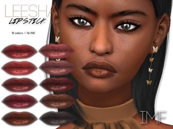Sims 4 IMF Leesha Lipstick N.242 by IzzieMcFire at TSR