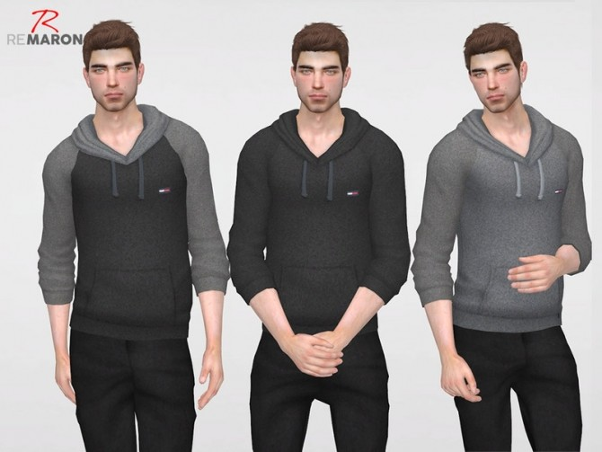 THs Hoodie for men by remaron at TSR image 3225 670x503 Sims 4 Updates