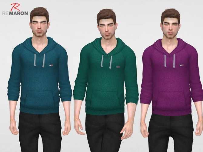 THs Hoodie for men by remaron at TSR image 3323 670x503 Sims 4 Updates
