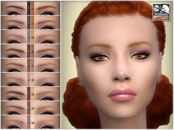 Sims 4 Eyebrows 11 by BAkalia at TSR