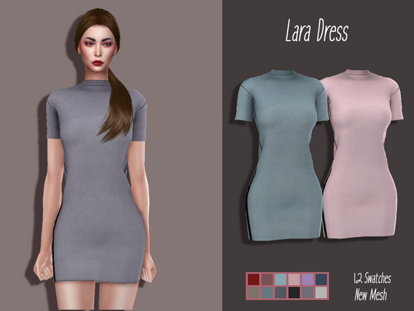 LMCS Lara Dress by Lisaminicatsims at TSR image 3416 Sims 4 Updates