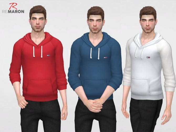 THs Hoodie for men by remaron at TSR image 3423 670x503 Sims 4 Updates