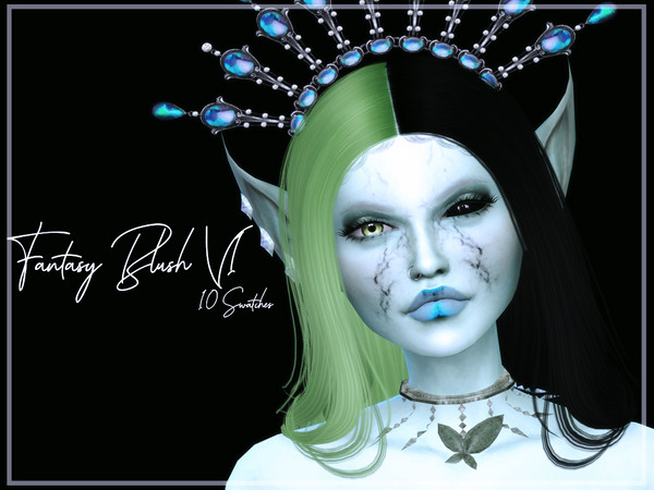 Sims 4 Fantasy Blush V1 by Reevaly at TSR