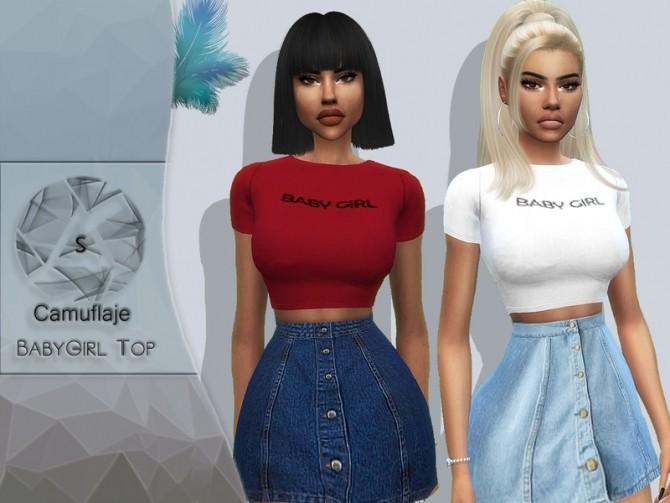 Sims 4 BabyGirl Top by Camuflaje at TSR