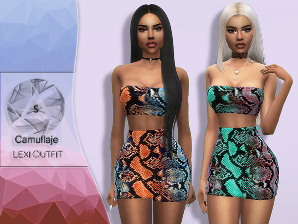 Sims 4 Lexi outfit by Camuflaje at TSR