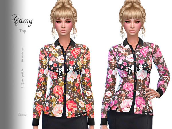 Sims 4 Camy Top by Suzue at TSR