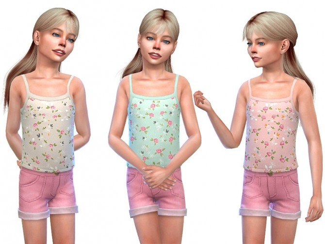 Sims 4 Top for Girls 01 by Little Things at TSR