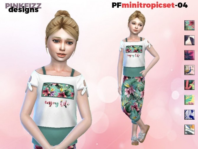 Sims 4 Mini Tropic Set PFS4 by Pinkfizzzzz at TSR