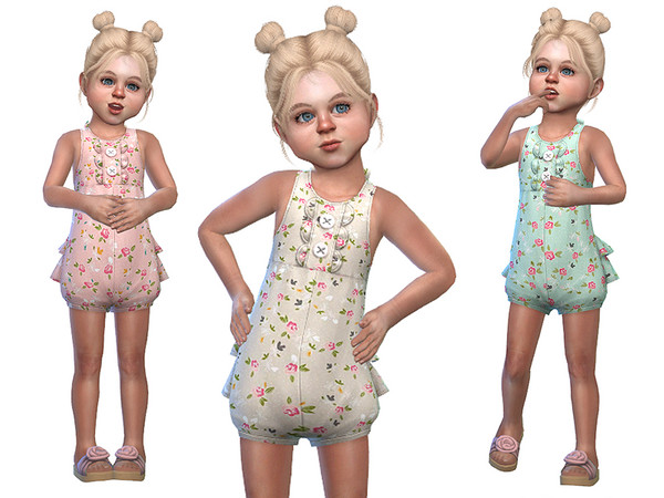 Sims 4 Ruffled Onesie for Toddler Girls 02 by Little Things at TSR