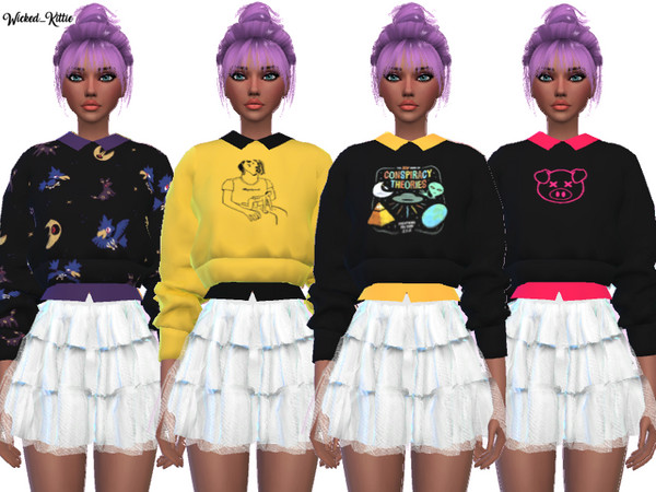 Sims 4 Cute Trendy Sweaters by Wicked Kittie at TSR