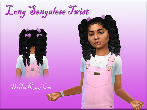 Sims 4 Long Senegalese Twist hairstyle by drteekaycee at TSR
