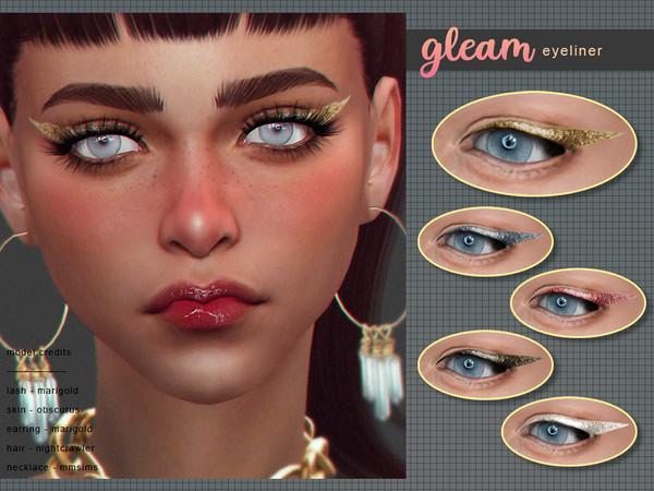 Sims 4 Gleam Eyeliner by Screaming Mustard at TSR