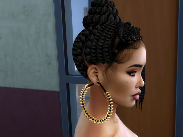 Sims 4 Subtly Natural hair by drteekaycee at TSR