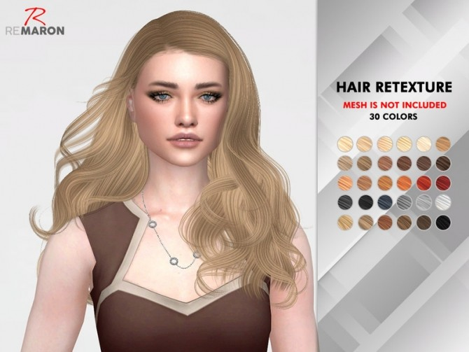 Sims 4 Wonderland Hair Retexture by remaron at TSR